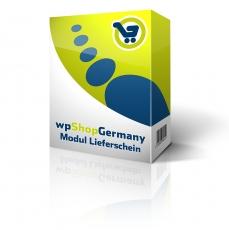 wpShopGermany-Modul Lieferschein